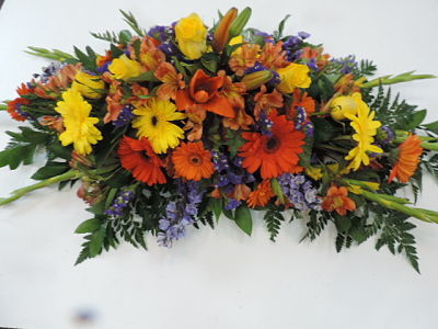 Casket Bright Flowers