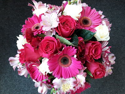 Vibrant Red and Pink Bunch